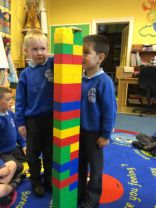 Measuring the heights of P2 pupils